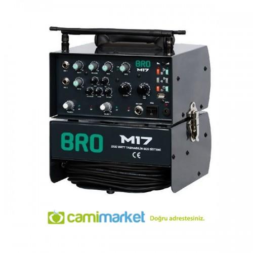 Atak BRO M17 Seyyar Ses Sistemi - Çift Mikrofonlu