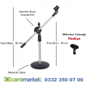 BEST Akrobat Kürsü Mikrofon Sehpası - Mikrofon Standı