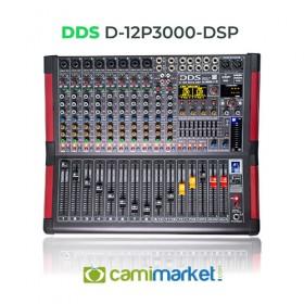 DDS D-12 P-3000DSP Power Mikser Amfi 2x1500 Watt 12 Kanal