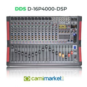 DDS D-16 P-4000DSP Power Mikser Amfi 2x2000 Watt 12 Kanal