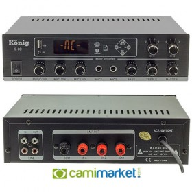 König K-80 - 2 Bölgeli 80 Watt Hat Trafolu Stereo Anfi