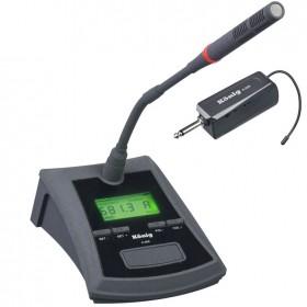 König K-509 Şarjlı Telsiz Kablosuz Kürsü Masa Mikrofon