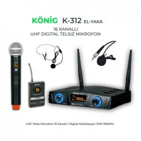 König K-312EY UHF Telsiz El Yaka Mikrofonu