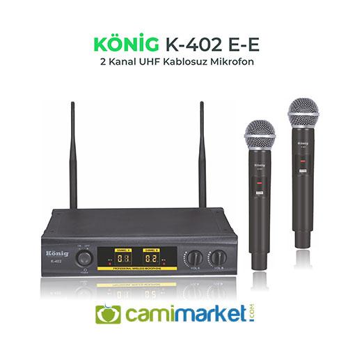 König K-402E UHF Telsiz Çift El Mikrofonu