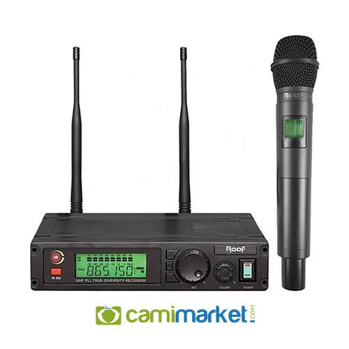 Roof R-1100E UHF Tek Kanal Kablosuz El Mikrofonu