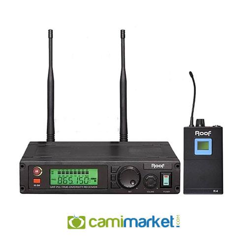 Roof R-1100Y UHF Tek Kanal Kablosuz Yaka Mikrofonu
