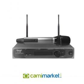 Roof R-1180E UHF Tek Kanal Kablosuz El Mikrofon Seti