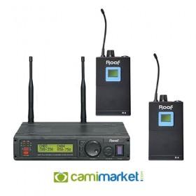 Roof R-1200YY UHF Kablosuz Çift Yaka Mikrofonu