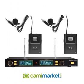 Roof R-202Y UHF Kablosuz Çift Yaka Mikrofonu
