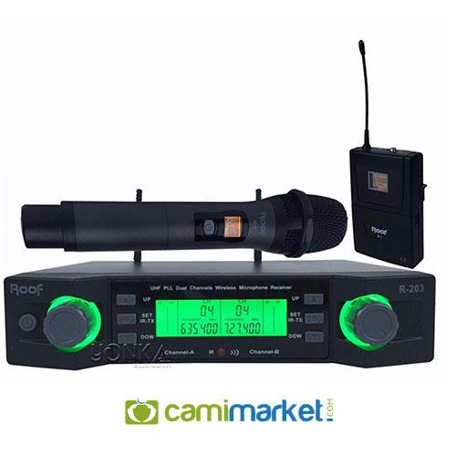 Roof R-203EY UHF Kablosuz El Yaka Mikrofonu