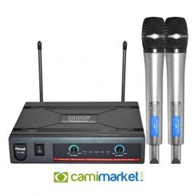 Roof R-720E UHF Kablosuz Çift El Mikrofonu