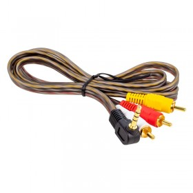 Bilgisayar Anfi Arası Ses Kablosu 3,5 mm Erkek - 3 RCA Erkek Silikon AV  Kablo 1,20 Metre