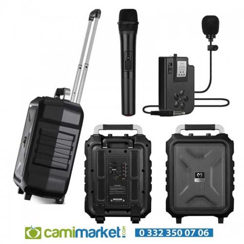 Magicvoice MV-2015 Max 300W USB-SD-BT Siyah 1E-1Y Mikrofonlu Mevlüt Anfisi - MV-2015