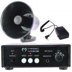 Magicvoice Mv-800 Pazarcı Anfi Seti -Mıknatıslı-Ses Kayıtlı-Sirenli