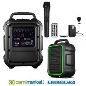 Magicvoice MV-2016 Max 175W USB-SD-BT Siyah 1E-1Y Mikrofonlu Mevlüt Anfisi