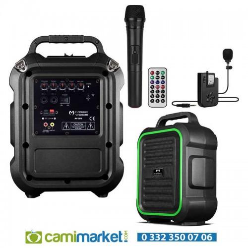 Magicvoice MV-2016 Max 175W USB-SD-BT Siyah 1E-1Y Mikrofonlu Mevlüt Anfisi - MV-2016