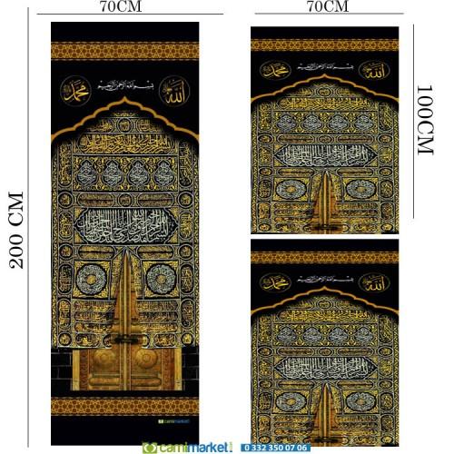 Minber Perdesi  3 Lü Takım- Storlu-Kabe Kapısı