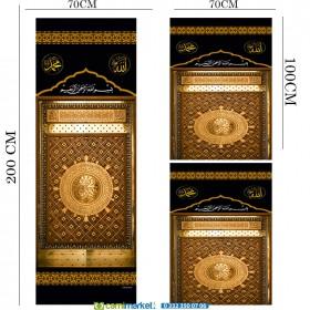 Minber Perdesi  3 Lü Takım- Storlu-Mescidi Nebevi Kapısı