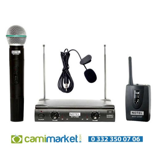 Notel NOT-270 EY VHF Kablosuz Telsiz El + Yaka Mikrofon Seti