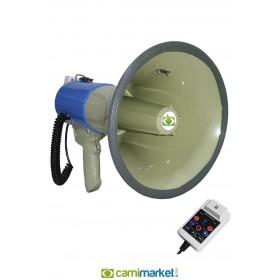 Notel NOT-2550BT Şarjlı Megafon 50 W -Usb'li - Bluetooth'lu Lityum Pil,Sirenli, Kayıtlı 150 watt Çıkış Gücü