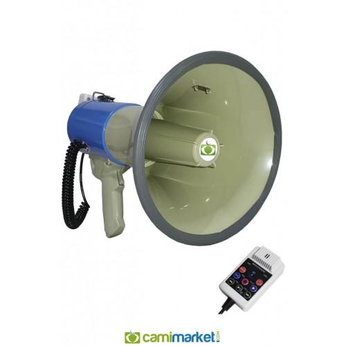 Notel NOT-2550BT Şarjlı Megafon 50 W -Usb'li - Bluetooth'lu Lityum Pil,Sirenli, Kayıtlı