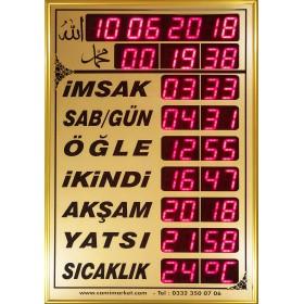 Dijital Namaz Vakitlerini Gösteren Saat